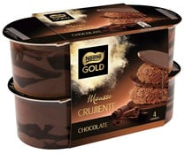 Mousse de chocolate con crujiente de chocolate NESTLÉ GOLD pack de  4 uds de  57 gr
