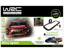 Circuito de carreras Nitro Speed a escala 1:43, incluye 2 coches AIR STORM.