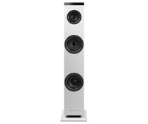 Torre de audio ENERGY SISTEM TOWER 1 2.1, 30W RMS, Aux jack 3,5, RCA, Bluetooth, color blanco.
