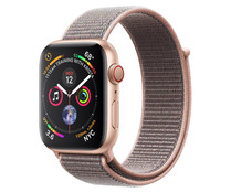 Smartwatch  APPLE Watch Series 4 MTVX2TY/A, GPS + Cellular, caja de aluminio de 44mm.,  oro con correa deportiva rosa arena.