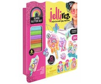 Set para crear joyas brillantes con purpurina, Supper Glitter Set JELLI REZ.