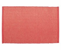 Mantel individual de canutillo lurex 100% algodón, color rojo, 30x45 cm., happy moments ACTUEL.