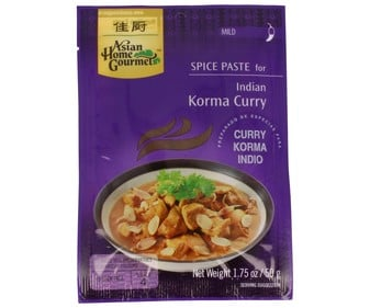 Salsa de curry korma ASIAN HOME GOURMET 50 g.