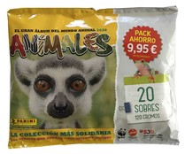 Pack de 20 sobres Animales, PANINI.