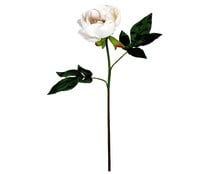 Vara de peonia artificial color blanco, con tamaño de 61 cm, para decoración del hogar, ESSENCIAL.