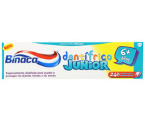 Pasta de dientes junior tricolor para niños, BINACA, 75 ml..