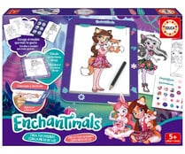 Juego creativo Enchantimals con mesa de luz, EDUCA.
