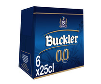 Cerveza sin alcohol BUCKLER, pack de 6 uds. x 25 cl.