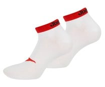 Pack de 2 pares de calcetines invisibles para hombre JOMA, color blanco y rojo, talla 39/42.