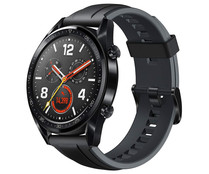 "Smartwatch HUAWEI Watch GT Sport 46mm negro, pantalla 1.39"" Amoled, GPS, Bluetooth."