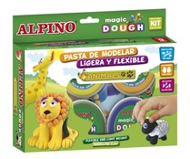 Kit de pasta para modelar flexible y ligera para crear simpáticos animales serie Magic Dough ALPINO.