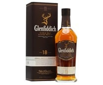 Whisky single malt 18 años GLENFIDDICH botella de 70 cl.