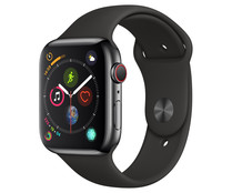 Smartwatch  APPLE Watch Series 4 MTX22TY/A, GPS + Cellular, caja de acero inoxidable de 44mm., negro espacial con correa deportiva negra.