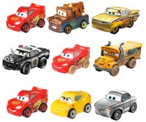 Pack de 3 minicoches de carreras de Cars de Disney. CARS
