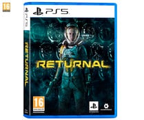 Returnal para Playstation 5. Género: acción, shooter. PEGI: +16.