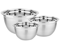 Set de 3 boles de cocina de acero inoxidable, 20, 24 y 28cm., IMF KITCHEN.