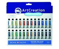 24 tubos de pintura, base de agua, 12mm, varios colores serie Art Creation Expression ROYAL TALENS.