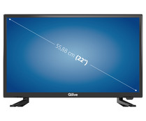 "Televisión 54,61 cm (21,5"") LED QILIVE Q22-967B FULL HD, TDT T2, USB reproductor, 1HDMI, 50HZ."