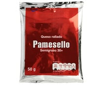 Queso natural rallado PAMESELLO 50 g.