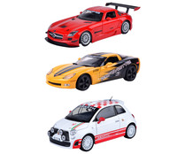Surtido city car de coches deportivos a escala 1:24 ONE TWO FUN ALCAMPO.