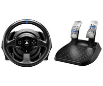 Volante con pedales T300 RS Force Feedback, compatible con PS4, PS3 y PC, THRUSTMASTER.