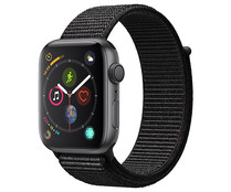 Smartwatch APPLE Watch Series 4 MU6E2TY/A, GPS, caja de aluminio de 44mm., gris espacial con correa deportiva Loop negra.