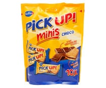 Galletas minis rellenas de chocolate PICK UP 10 x 10 g.