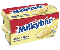 Natillas de chocolate blanco NESTLÉ MILKYBAR pack 4 uds de  70 gr