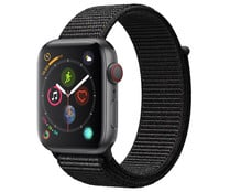 Smartwatch  APPLE Watch Series 4 MTVV2TY/A, GPS + Cellular, caja de aluminio de 44mm., gris espacial con correa deportiva Loop negra.