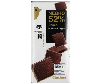Chocolate negro 52% 150 gramos