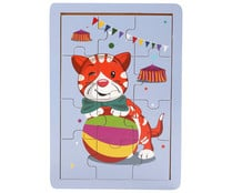 Puzzle infantil animales con 12 piezas de madera ONE TWO FUN.