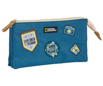 "Estuche portatodo triple reciclable de national geographic ""explorer"", NATIONAL GEOGRAPHIC."