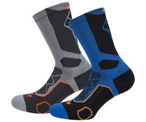 Pack de 2 pares calcetines trekking para hombre IN EXTENSO, talla 39/42.