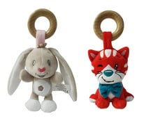 Animales de peluche con anilla de madera, ONE TWO FUN ALCAMPO.