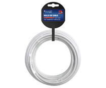 Rollo de 10 metros de cable H05VVH2-F, 2x1mm, color blanco, SEVENON.