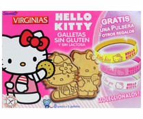 Galletas con forma de Hello Kitty, sin gluten, VIRGINIAS 120 gr,