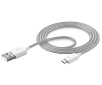 Cable Usb a Micro-Usb CELLULAR LINE, blanco, longitud 1M.