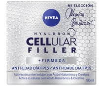Crema facial antiedad de día con FPS 15 NIVEA Hyaluron cellullar filler 50 ml.