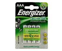 2 pilas recargabables AAA-LR03, 700 mAh ENERGIZER Power plus.