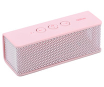 Mini altavoz QILIVE Q10 por batería, Bluetooth, 6W, color rosa.