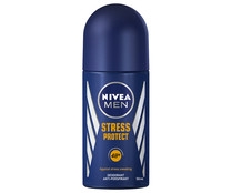 Desodorante roll on para hombre con protección anti transpirante hasta 48 horas NIVEA Men stress protect 50 ml.