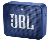 Mini altavoz JBL Go 2 Blue por batería, potencia 3W, conexión Jack 3.5mm, Bluetooth, micrófono integrado, color azul.