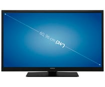 "Televisión 60,96 cm (24"") LED HITACHI 24HE2100 HD READY, SMART TV, WIFI, TDT T2, USB reproductor y grabador, 2HDMI, 400HZ."