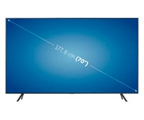 "Televisión 177,8 cm (70"") LED SAMSUNG 70TU7105 4K, SMART TV, WIFI, BLUETOOTH, TDT T2, USB reproductor y grabador, 2HDMI, 2000HZ."