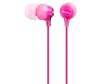 Auriculares tipo Intauricular SONY MDREX15LPPI rosa. con cable.