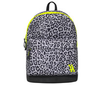 Mochila juvenil de color gris fancy animal print, medidas: 27x20x40 cm, YOUNG'S ATTITUDE ALCAMPO.
