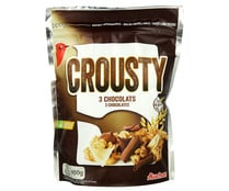 Cereal granola Crousty 3 chocolates PRODUCTO ALCAMPO 450 g.