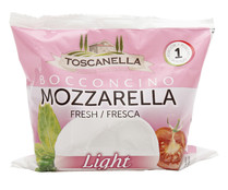 Mozzarella fresca light TGT 125 g.