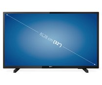 "Televisión 81,28 cm (32"") LED PHILIPS 32PHT4503 HD READY, TDT T2, USB reproductor, 2HDMI, 200HZ."