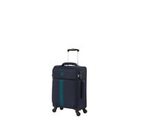 Maleta de cabina de color azul soft 55cm 4 ruedas tsa EVA, IT LUGGAGE.